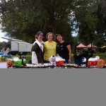 Dr. Rixford, Lynda, and Isabella (right to left) give out candy to over 3,500 children at Largo's 2012 Halloween Spooktacular