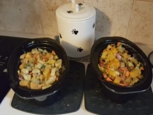 Crocl-pot, baked, casserole, fresh sauteed, boiled: dog food is doable!